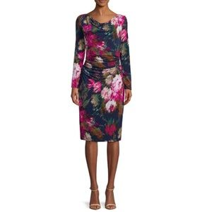 NWT David Meister | Navy Floral-Print Chic Dress 4